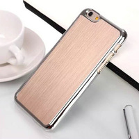 "4.7 inch Case For iPhone 6 Electroplated Frame Brushed Aluminum Case For iPhone6 Plus(5.5"") Case Luxury Hard Metal Back Cover"