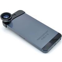 2014 Universal 3-in-1 180 degrees Fish Eye Fisheye + Wide Angle + Macro Lens photo Kit Set for iPhone 5 5S
