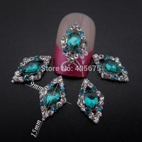 rhombic nail rhinestones 3d nail charms phone decorations DIY scrapbooking accessories MNS725