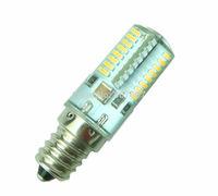 1x E12 Warm White bulb 64 3014 SMD LED lamp 110~120v 2.6W Silicone Crystal