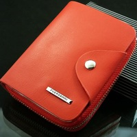 Men Wallets New Hight Quality Casual Male Hasp Zipper Around Genuine Leather Business Short Card Holder Purse#L09426