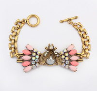 Christmas Gift 2014 Cute Insect Statement Bracelet Resin Alloy Charm Bracelets & Bangles pulseras mujer SL107066