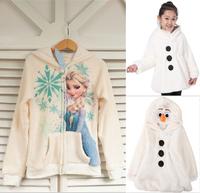 2014 New winter frozen jacket, Elsa jacket. snow treasure cartoon coat clothes trade OLAF cotton-padded clothes, children's coat
