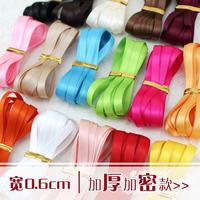 satin ribbon 6mm 0.6cm double faced ribbon ribbon bow hair accessory hair accessory material
