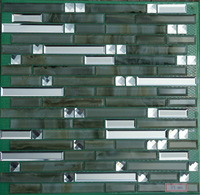 free shipping wholesale green color luxury glass mosaic designs mosaic glass