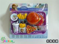 2014 New Frozen Kids Play House Toys Anna&Elsa Hamburger Toys Playset Frozen Pretend Play Kitchen Toys