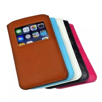 100pcs/lot Sleeve Pouch PU Leather Bags for iPhone6 5.5 inch,Pull Tab Case for iPhone 6 plus ,Moblie Phone Bags