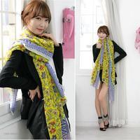 new rural wind Floral Scarf curling Bush Yin Bali yarn female long towel 80*170cm DG8080