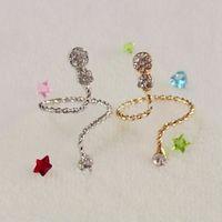 10pc/lot free shipping  calabash design party full crystal animal nail rings