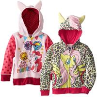 2014 New Girl's cartoon winter coat! Children Hoodies, Girls jacket Children's Coat, girls Cotton Jacket children clothing,