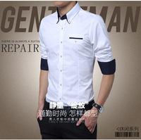 Plus Size 5XL 2015 New Mens Dress Shirts Long Sleeve Lapel Casual Shirt Men Slim Fit Brand Design Formal Shirt Camisa Social