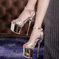 2014 Sexy Women's Pumps 18 cm Ultra High Heels Platform Party Dance Shoes sexy club high heels Women's Wedding Shoes heel