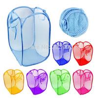 High quality nylon folding laundry basket storage basket fish scale net (random Color)