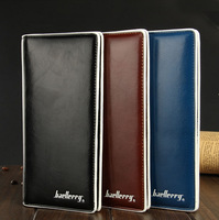 Men Wallets 2015 business card package Clutch male Long Wallet Korean version influx leather man bag card free shipping