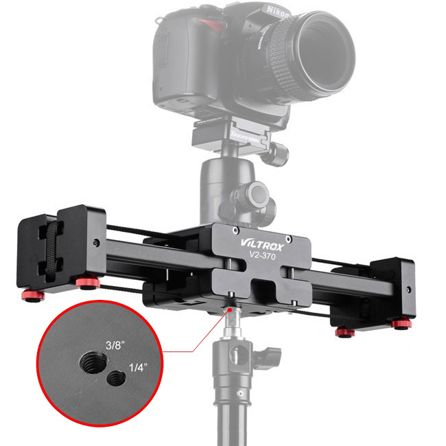 1/4'' & 3/8'' Viltrox V2-500 Camera Track Dolly Slider Video Stabilizer for Camcorder Camera -free DHL shipping(China (Mainland))