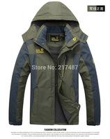 Hot sell Free Shipping High-quality Men's Jackets 2014 New Jackets  Waterproof Windproof  fleece climbing