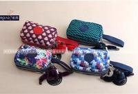 RO016 Floral striped zebra  double-deck clutch bag  change purse key bag phone bag  Drop shipping /Wholesale Free Shipping