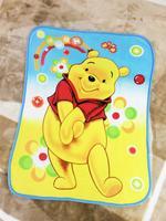 pooh the winnie bear yellow small coral fleece blankets carpet 100x130cm new
