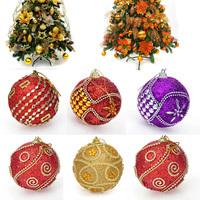 5 Pcs Per Lot 8CM/80mm Christmas Decor Round Christmas Balls Baubles XMAS Tree Ornament