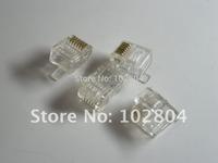 6P6C Modular Plug Telephone Connector 400 Pcs Per Lot HOT Sale HIGN Quality