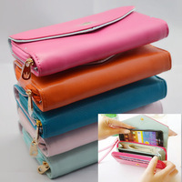 Fashion Multi Propose Envelope Coin Purse Wallet Handbag For Samsung Galaxy  S3, S2 ,S4 Universal Crown Cover 5 Colors