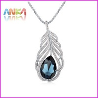 Statement Necklace 100% Austria Crystal Long Pendant Necklace Jewelry Fashion Made With For Swarovski Elements For Women #110589