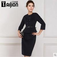 2014 women's formal work wear women's set autumn and winter skirt woolen outerwear suit