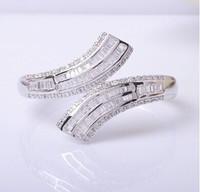 new  OL genuine new European style minimalist silver crystal bracelet