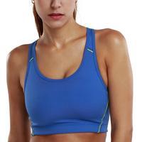 Women Wireless Shiny Color Classic Sports Bra Top Black White Orange Yellow Blue XS S M L XL