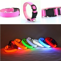 NEW Small-Scale Safety Pet Dog Collar LED Nylon Collar Light-up Flashing Glow drop shipping & free shipping