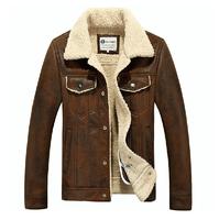 Hot Men fur one piece leather clothing mens water wash short design turn-down collar fur men's motorcycle clothing jacket M-3XL