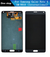 original For samsung Galaxy note 4 N910 LCD screen Display and Touch Screen Digitizer Assembly for note 4 Free Shipping( Black)