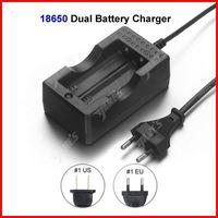 ( 20 pcs/lot ) Travel Dock Dual 18650 Battery Charger EU Plug For 18650 Li-ion Battery Wholesale