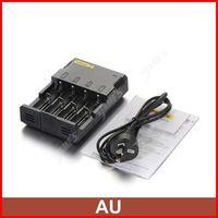 ( 3 pcs/lot ) Nitecore Intelligent I4 V2 Universal AAA C Battery Charger For 18650 CR123A Li-ion Battery AU Plug Wholesale
