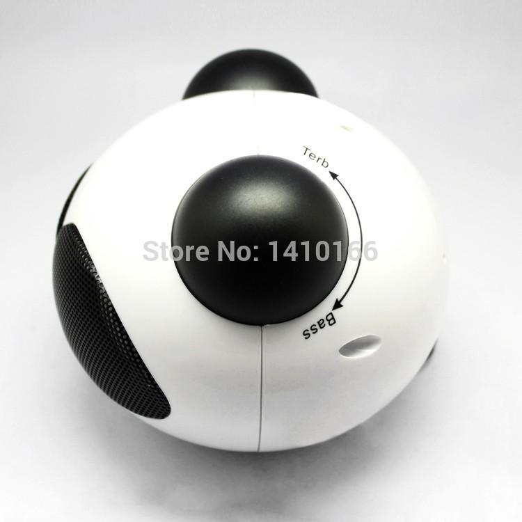 Panda Stereo Sound Speaker Music Loudspeaker 3.5mm USB FOR Tablet(China (Mainland))