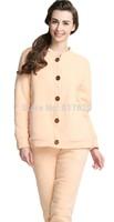 2014Women's Cute Thick Winter Buttons Loungewear Pajama Set Nightie Sleepwear nightgown pajamasFree shipping