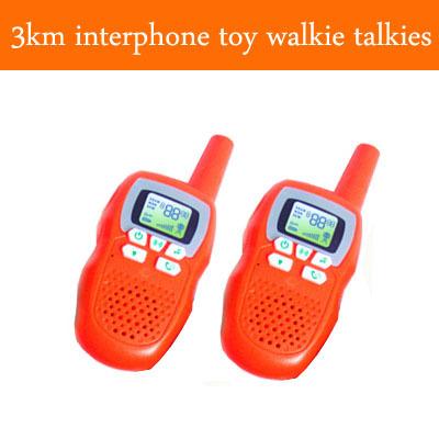 2014 New Gadgets 3000M Maximum Distance Calls Walkie Talkie Kids High Quality Interphone Toy Walkie Talkies+5 Colors(China (Mainland))