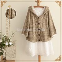 Forest mori girl cardigan winter coat knitted lace lolita cardigan coat bat camisas blusas brandy melville cardigan blazer