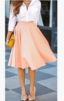 Free Shipping ! 2014 Women Pleated Summer and autumn New Arrival Fashion Skit, Female Slim Casual Euro Hot Selling Skirts