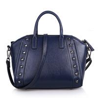 Handbag women's handbag cross-body rivet bag smiley bag women's cowhide autumn and winter women's handbag one shoulder bag 0529