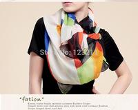 Free shipping women wraps & scarf Chinese Style geometric  Wrap Scarf 180*95cm