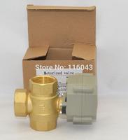 TF25-B3-C Brass 1'' T Type 3-Way Actuator Ball Valve DN25 AC110V-230V 2Nm CR303 Wiring Max 1.0Mpa