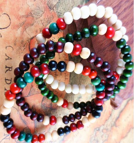 Min . ordem r $15 multicolor 8 mm 108 contas de sândalo rosário pulseira oração mala meditação budista tibetano com bag como dom gratuito(China (Mainland))