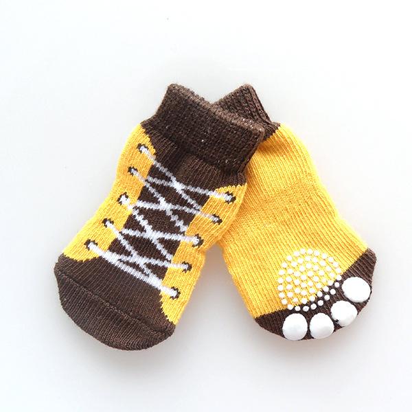 de 4 pcs interior meias pet cão de estimação de algodão macio anti- escorregamento tecer malha meias quentes skid inferior pet produtos transporte livre(China (Mainland))