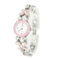 Causal dress watch Lady's rhineston bracelet wrist watch F066