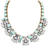 New 2014 Ethnic Joker Sweet Acrylic Charm Necklaces & Pendants Fashion Jewelry flower Statement Jewelery Women XL108966