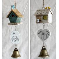 2pcs The cabin wind chimes Wood bells hang Creative ornaments crafts JYS25