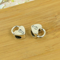 100pcs/lot A3340 antique silver  big hole bead alloy charm bead fit jewelry making 13x10x7mm,hole 5mm wholesale