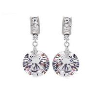 Teemi Fashion Design Round Cubic zirconia Lady Women Dangle Jewelry Earring Cheap Wholesale Free Drop Shipping hot sale