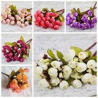 1PCS Bouquet Artificial Flowers Rose Wedding Bridal Flower Home Decoration Cheap-fine